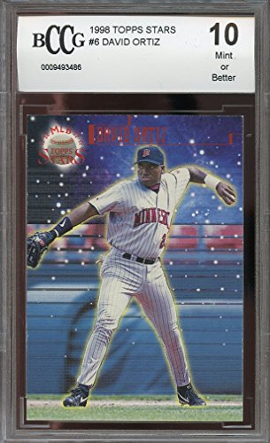 1998 topps stars #6 DAVID ORTIZ boston red sox rookie card BGS BCCG 10 Graded Card