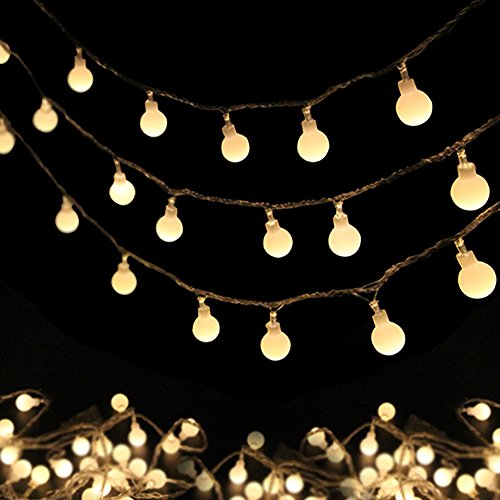 Globe String Light, Rusee (3m) 20 LED Waterproof Ball Lights for Patio Garden Party Holiday Christmas Decoratio