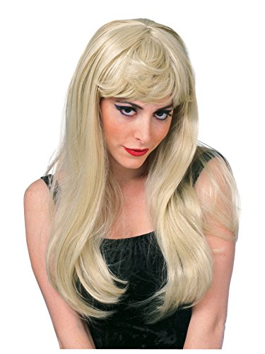 Rubie's Costume Co. Women's Glamour Wig, Black, As As shown, One Size -