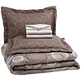 AmazonBasics 7-Piece Bed-In-A-Bag, Full/Queen, Industrial Grey