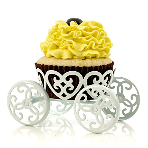 2-Pack Single Count Princess Carriage Cupcake Stand Holder Display by Cooking -