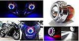 Pr Projector Lamp (Red And Blue) Led Headlight Lens Projector For - All Bikes(High Beam, Low Beam, Flasher Function)