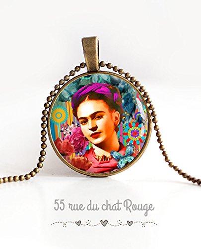 Frida Kahlo Halskette, Mexiko, Bö hmen chic, Zigeuner, mehrfarbig