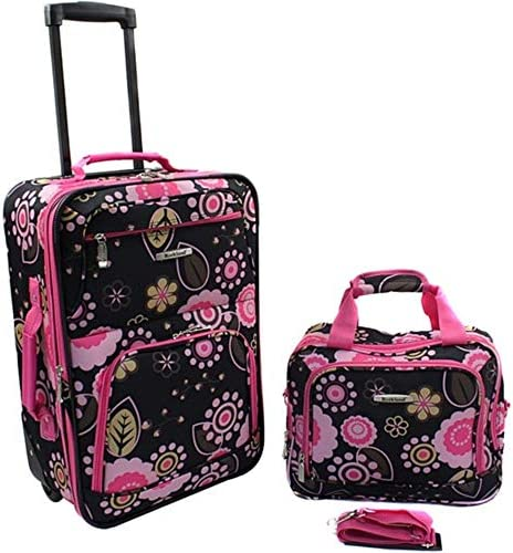 Rockland Printed 2 PC PUCCI LUGGAGE SET