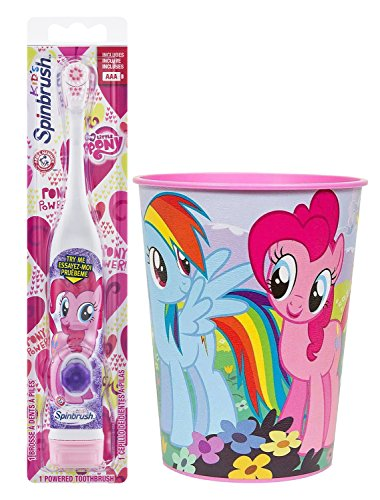 My Little Pony Pinkie Pie Toothbrush Bundle: 2 Items – Spinbrush Toothbrush, My Little Pony Kids Rinse Cup