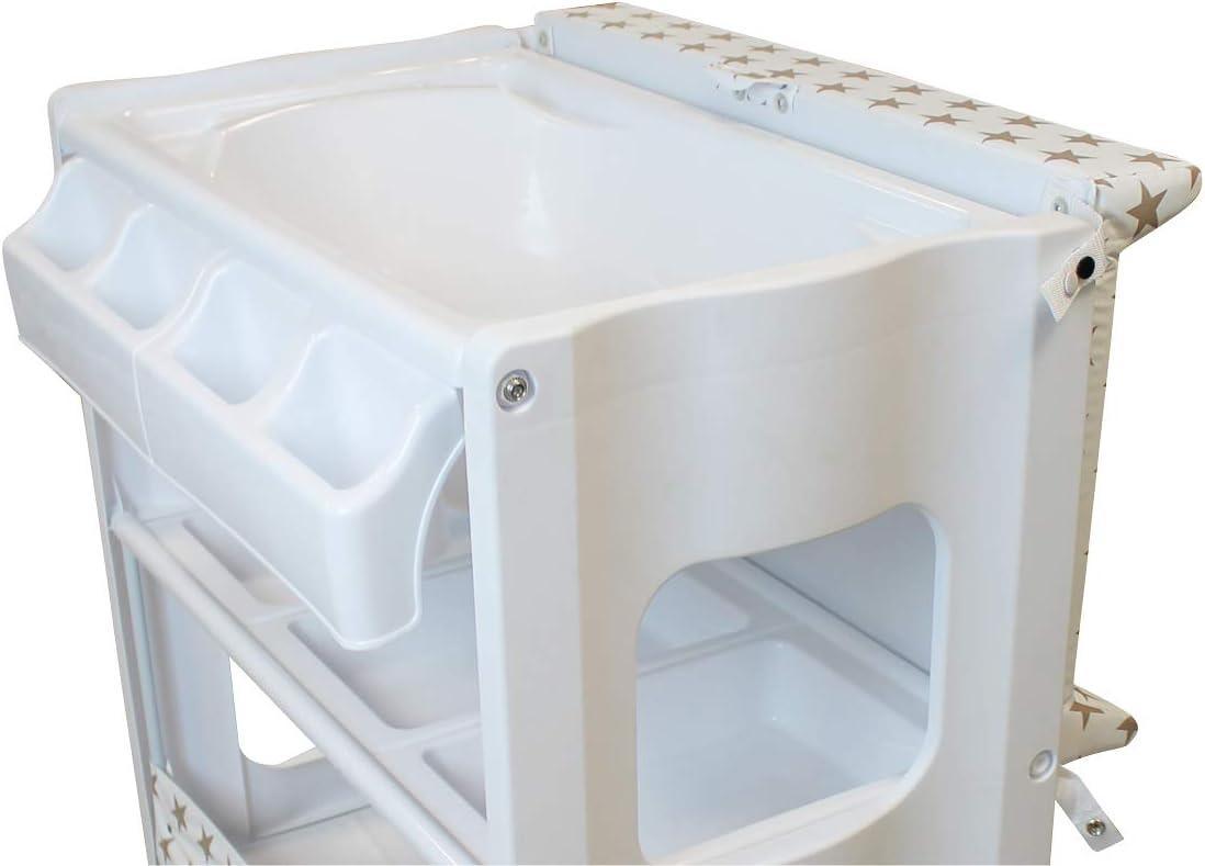Monsieur B/éb/é /® Table /à langer avec baignoire et rangements Norme NF EN 12221 4 coloris