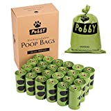 PobbY Biodegradable Dog Poop Bags Unscented 24 Refill Rolls Large Size 9' X 13' Durable Thick Dog Waste Bags Easy Tear-Off Leak-proff (360-count)