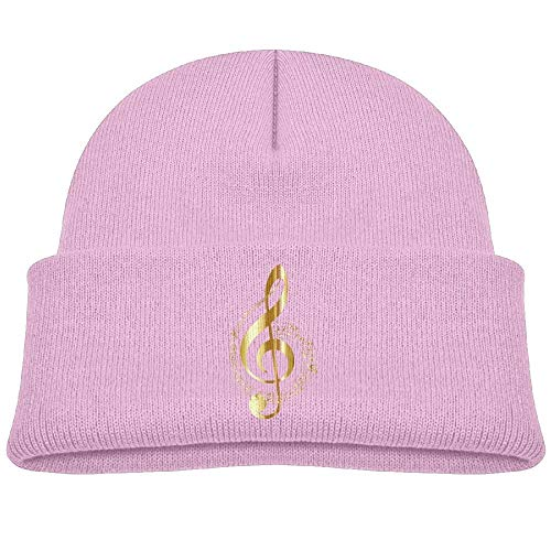 sport outdoor 003 Knit Hats Music Note 8 Baby Beanies Caps Unisex Baby Warm Pink -