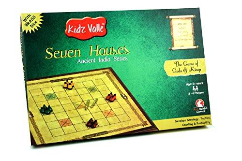 Kidz Valle Seven Houses, Chowka Bara , Kattemane, Ashta Chemma Chuaka Ancient India Series, Indian Traditional Board Game, Game