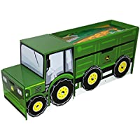 Adorable, Durable Stylish And Versatile Tractor Toy box Set - Perfect For Setting A Boys Themed Room And For Storing Toys And Small Things!