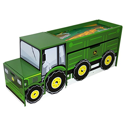 Adorable, Durable Stylish And Versatile Tractor Toy box Set - Perfect For Setting A Boy's Themed Room And For Storing Toys And Small Things! by Generic