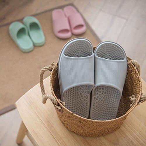 Non XINGYUE Spa Slippers Shower Slip Sandal Beach Massage Household Gray Bathroom Slippers wqEUgq