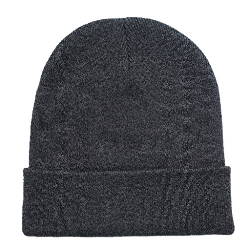 Home Prefer Classic Soft Warm Knitted Hat for Infant Baby Boys Girls Skull Beanies Black, S Black Classic Knit Beanie