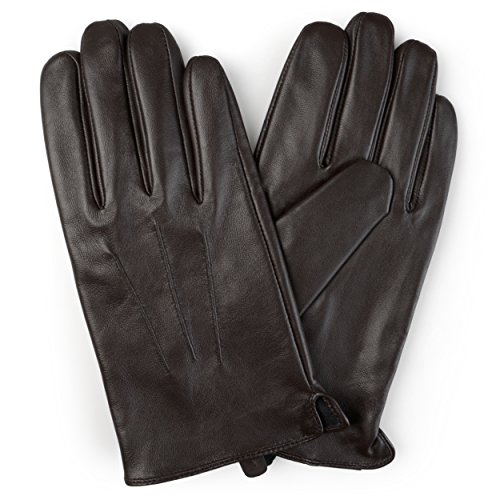 Daxx Leather - Daxx Mens Lined Fashion Leather Sheepskin Driving Gloves