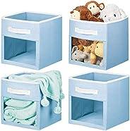 mDesign - Cubeta organizadora de tela para niños, 4 unidades