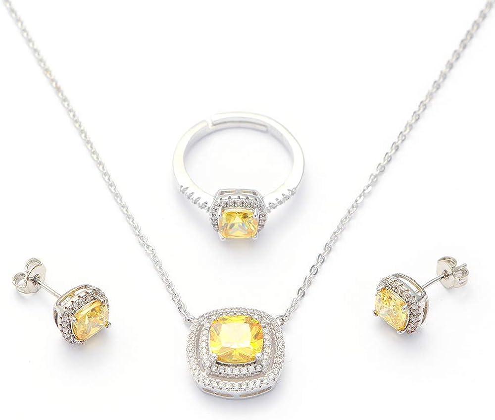 Amazon.com: Arain Women's Jewelry Sets Cubic Zirconia Jewelry Set for Women  with Necklace Pendant Bracelet Earring Ring Wedding Party Fashion Jewelry:  Jewelry