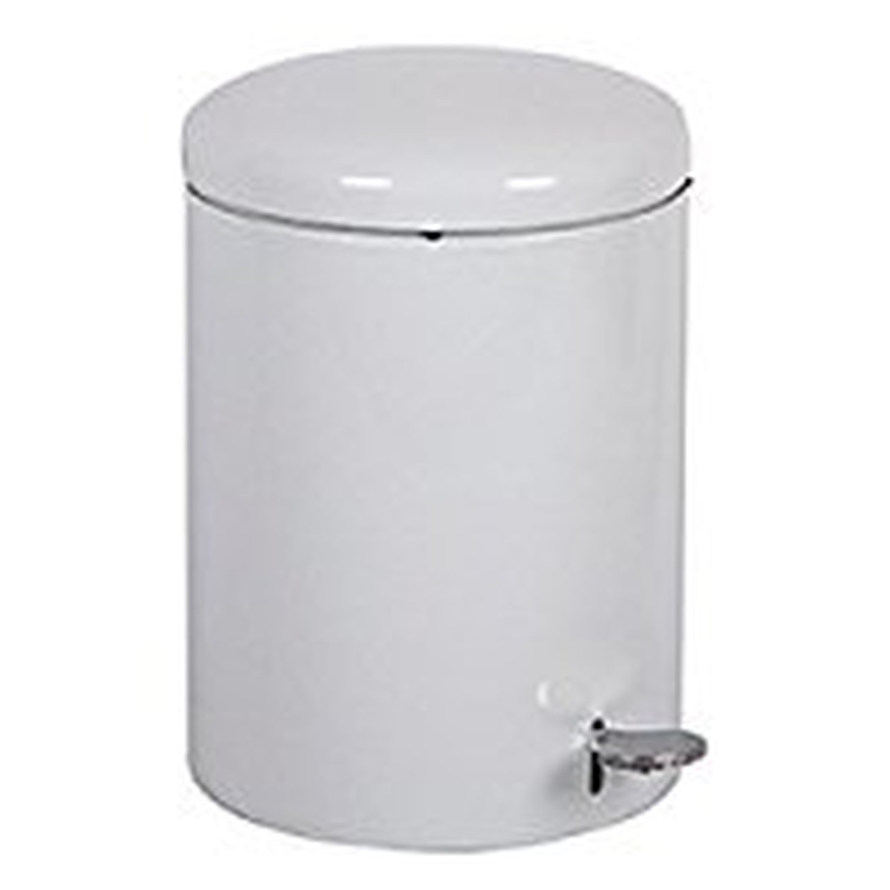 Witt 2240WH Step On Metal Biohazard Waste Container, 4gal Capacity, 11-1/2'' Diameter x 16'' Height, White