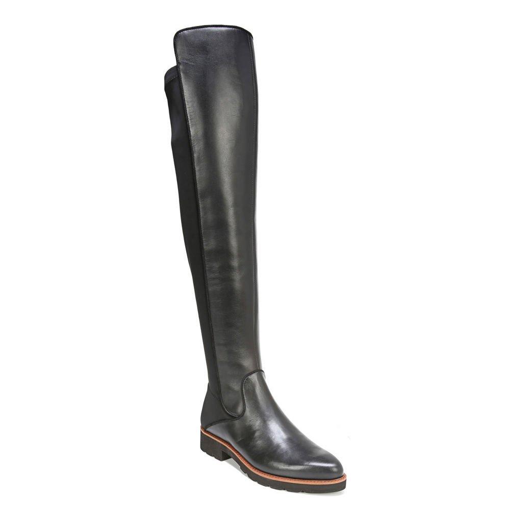 Franco Sarto Womens Benner B075BQJBKQ 9 B(M) US|Black Leather/Stretch Lycra