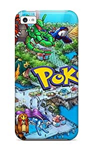 For Iphone 5c Tpu Phone Case Cover(pokemon)