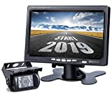 DVKNM Upgrade Backup Camera Monitor Kit,1280X720P HD,IP69 Waterproof Rearview Reversing Rear View Camera 7'' LCD Reversing Monitor Truck/Semi-Trailer/Box Truck/RV - HD Transmission, Four-pin - (TZ101)