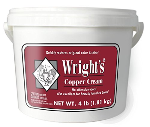 Price comparison product image Wright's Copper and Brass Cream Cleaner - 4 Lbs - Gently Cleans and Removes Tarnish Without Scratching