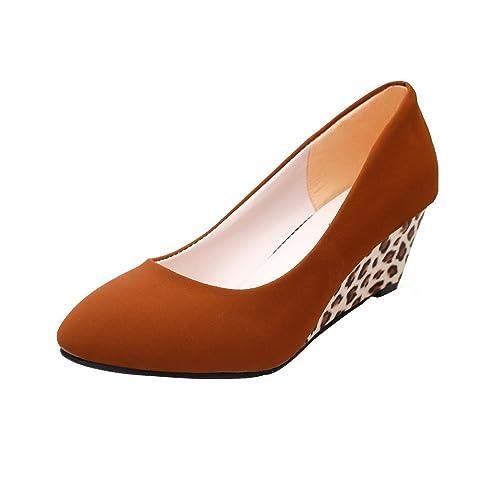 Logobeing Zapatos de Tacón Plataforma de Punta Redonda para Mujer Sandalias  de Tacón Alto Carrera de 20ec30d276e7