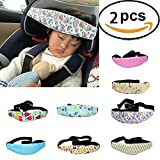 2-pack Toddler Car Seat Head Support and Neck Relief Baby Sleep Positioner,Random Different Pattern/Color