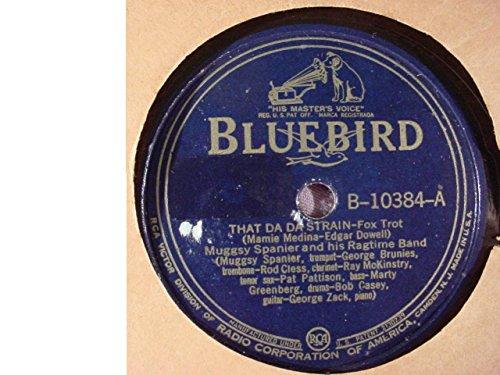 Rare Muggsy Spanier & His Ragtime Band Very Nice Original 10 Inch 78 rpm & Bluebird Stock Paper Sleeve - That Da Da Strain / Someday Sweetheart - Bluebird B-10384 -