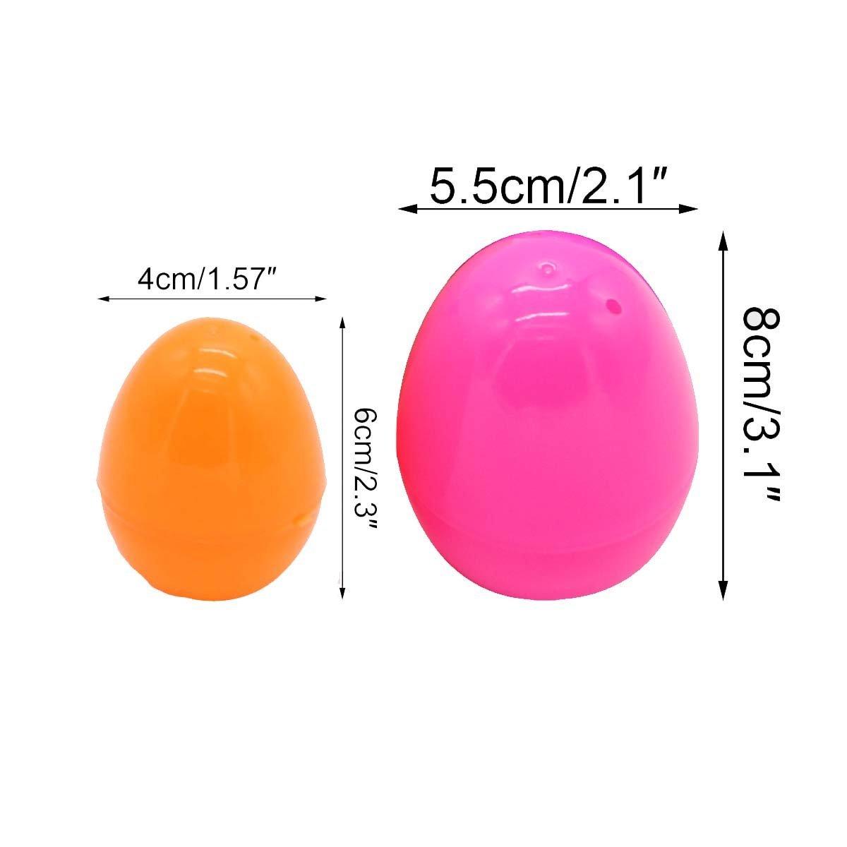 Mochiglory Large Size Assorted Colors 12pcs Easter Eggs DIY Decoration