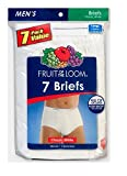 Fruit of the Loom Men's 7Pack White Briefs Underwear, L