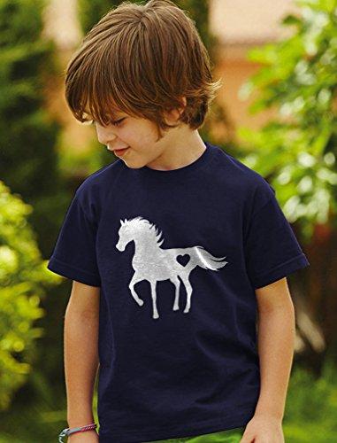Tstars Gift for Horse Lover Love Horses Toddler Kids T-Shirt 3T Blue by Tstars (Image #3)