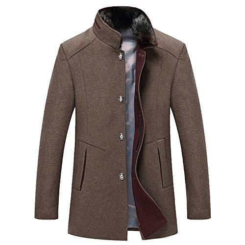 iHPH7 Men's Casual Wool Trench Coat Fashion Business Long Thicken Slim Overcoat Jacket from iHPH7