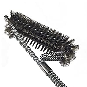 Komotu Grill Brush BBQ Best Grill Brush Durable & Effective Stainless Steel Wire Bristles And Stiff Handle A Perfect Gift For Barbecue Lovers