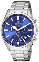 Casio Men's 'Edifice' Quartz Stainless Steel Casual Watch, Color:Blue (Model: EFV-510D-2AVCF)