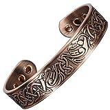 Mens Copper Bracelets for Pain Relief Viking Bracelet Magnetic Bracelets Arthritis Carpal Tunnel Healing Bracelet-Eagles (XL:Wrist 8''-9.5''/20.5-24cm)