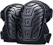 NoCry Professional Knee Pads with Heavy Duty Foam Padding and Comfortable Gel Cushion, Strong Double Straps an