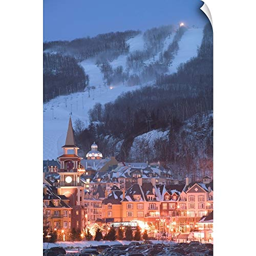 CANVAS ON DEMAND Quebec, The Laurentians, Mont Tremblant Ski Village Wall Peel Art Print, 32