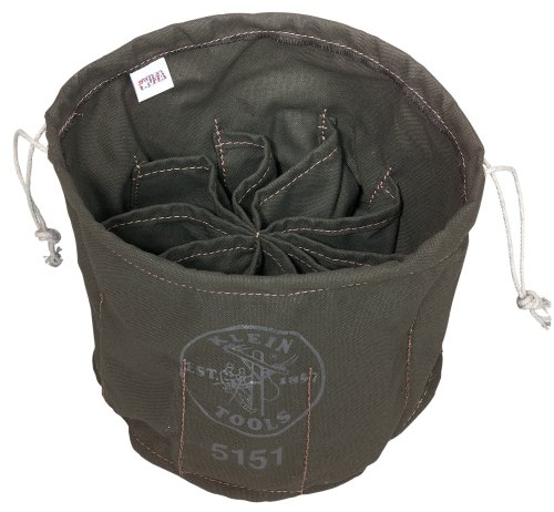 Klein Tools 5151 Drawstring Bag, 10-Compartment