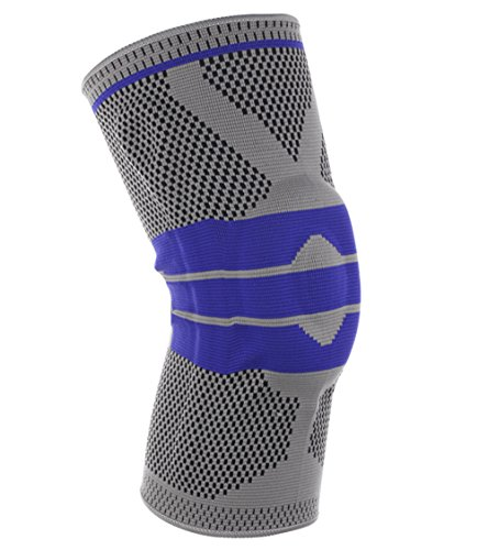Knee Brace (Single) by Esther Beauty-Silica Gel Anti Collision Knee Support for Unisex (XL, Light gray)