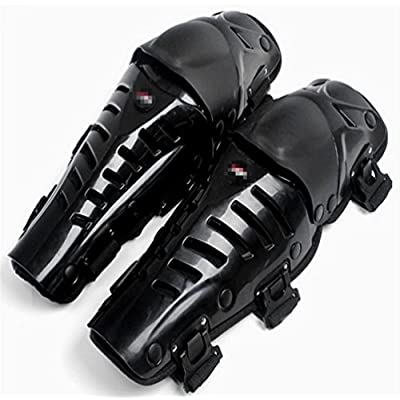 Wonzone 1 Pair of Adults Fashion Knee Shin Armor Protect Guard Pads Accessories with Plastic Cement Hook for Motorcycle (Black) : Sports & Outdoors