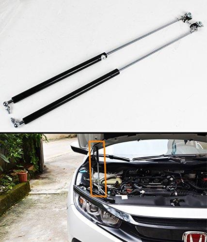 Fits for 2016-2017 Honda Civic Dual Front Bonnet Hood Damper Lift Strut Shocks Rod ()