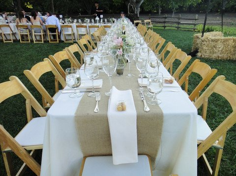 Burlap Table Runners: Rustic Weddings or Events (120 x 15)