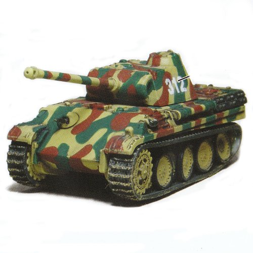 Battle Tank Kit Collection Trading Figures - Vol 1 - German Panther Ausf G 1944 (Camo - Dark - 1/144 Scale)