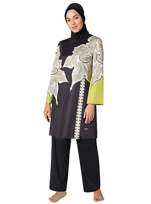 4682224df1 Amazon.com  Turkish Burkini for Muslim Women Unlined Fully Covered  Swimsuits Islamic Hijab Modesty Swimsuit Costume Big Size  Clothing