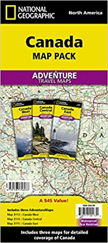 Travel Map Of Canada.Canada Map Pack Bundle National Geographic Adventure Map