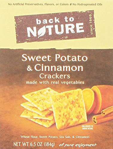 Back to Nature Sweet Potato & Cinnamon Crackers, 6.5-Ounce (Pack of 6) by Back to Nature