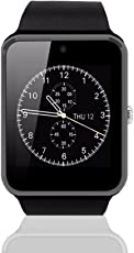 gt08 pantalla táctil bluetooth GSM Smart muñeca reloj teléfono Mate para Android IOS With Soporte Para Teléfono Gratis,Negro y negro