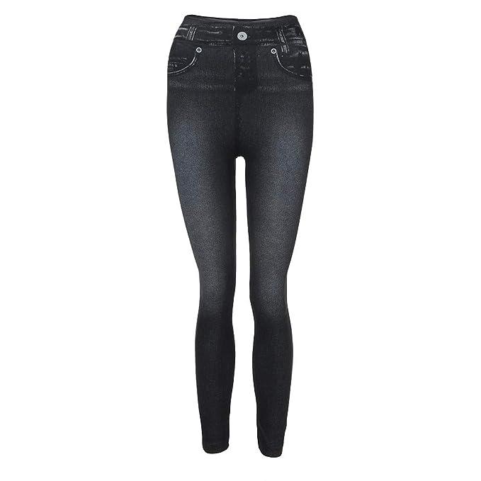 Amazon.com: VEZAD Pantalones vaqueros para mujer, pantalones ...