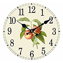 Upuptop 14inch Simple Decorative Gardening Fruit of Big Peach Kitchen Wall Clock