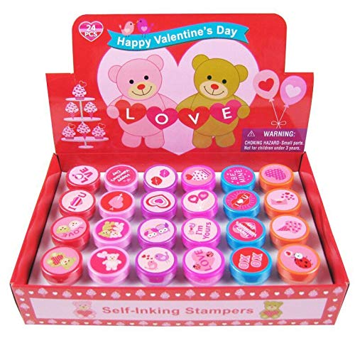 Tiny Mills 24 Pcs Valentine's Day Stampers for Kids ()